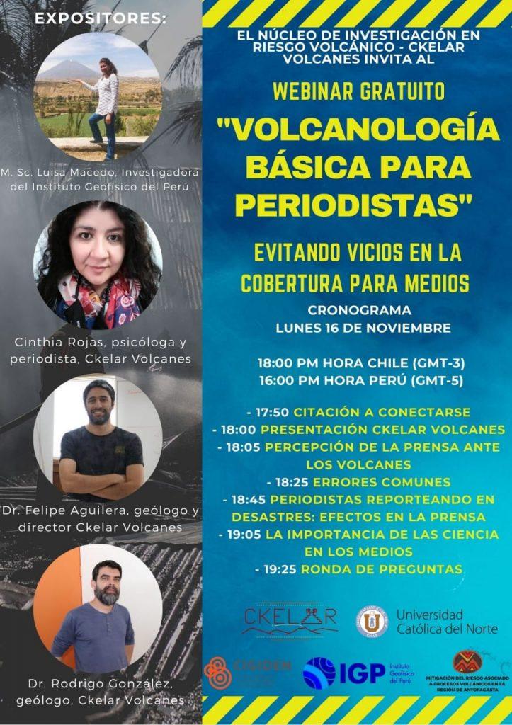 Revive el taller internacional gratuito: «Vulcanología básica para periodistas»